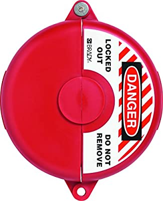 """ABUS V307 Gate Valve Safety Lockout 5-6.5"""" Red by Abus Lock USA"""