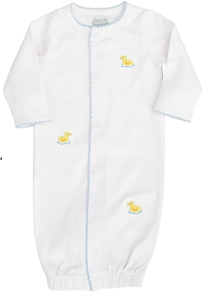 Mud Pie Baby Infant Duck French Knot Sleepwear Gown