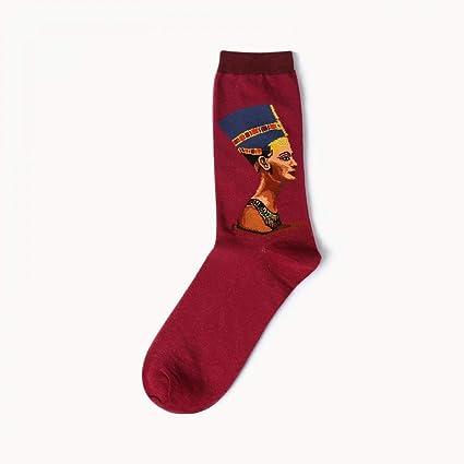 KALENAME (12 Pares Retro Literary World Famous Painting Series Calcetines de Tubo de algodón de los Hombres Calcetines Personalizados: Amazon.es: Deportes y ...