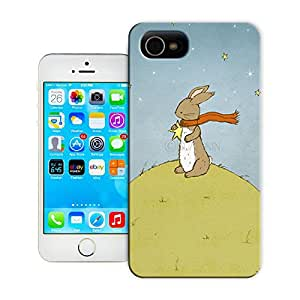 The stars on the bunny rabbit beautiful watercolor rabbitsdurable top iPhone 5C protection shell for sale by LeTian Case
