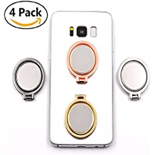 4 Pack Mirror Cellphone Ring Stand Holder, OWIKAR 360° Adjustable Ring Stand Grip Mount Kickstand for iPhone 7/7 Plus, Galaxy S8/S8 Plus and Almost All Phones, Fit for Magnetic Car Mount