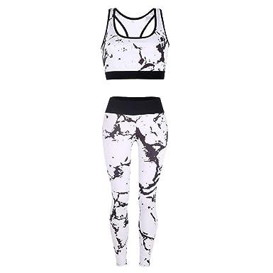 Amazon.com: Mr.Macy - Conjunto de chaleco de yoga para mujer ...