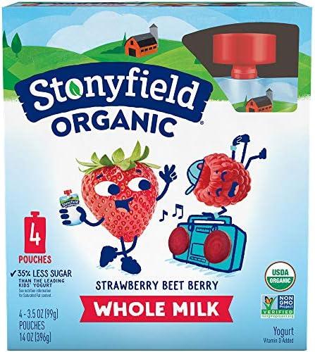 Stonyfield Organic Strawberry Beet Berry Whole Milk Yogurt 4-3.5 oz. Box