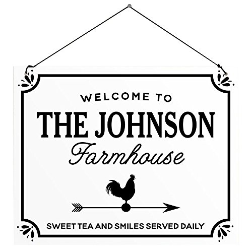 nalized Welcome To The Farmhouse Wall Sign, White ()