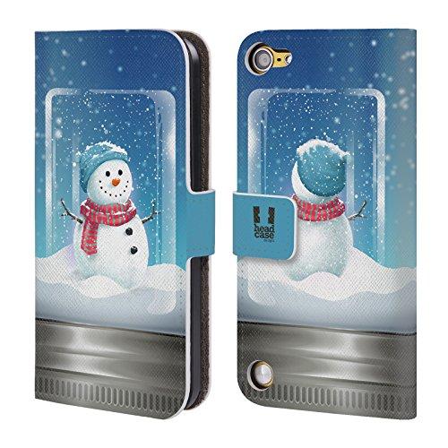 Head Case Designs Pupazzo Di Neve Natale In Barattolo Cover a portafoglio in pelle per iPod Touch 5th Gen / 6th Gen
