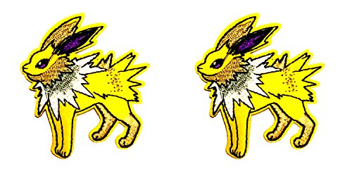 Classic Electiric Pokemon Jolteon 2-Pack Embroidered Iron/Sew on Badge DIY Appliques Patch by Outlander Gear