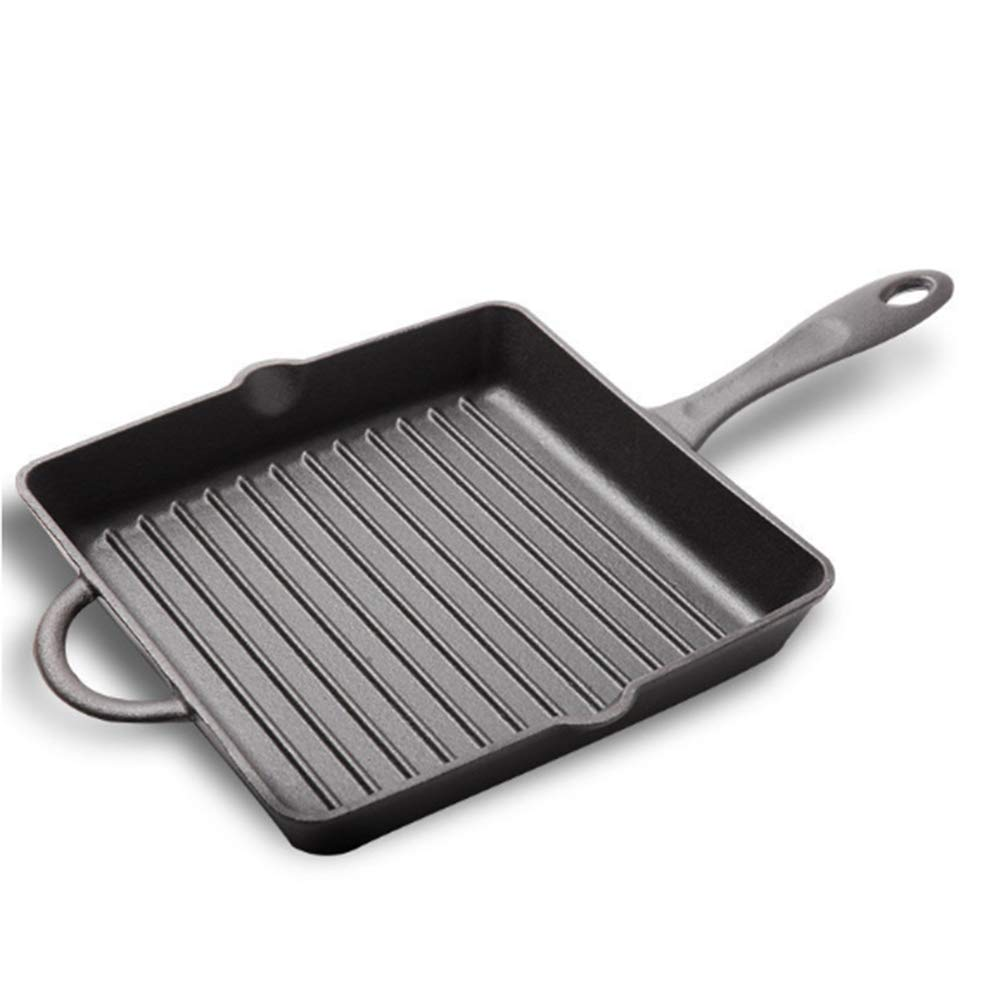 Bsjz Quadratische Bratpfanne Edelstahl Antihaft-Pfanne 26Cm Langen Griff Gusseisen Kann Steak-Ei 3-5 Personen Gebraten Werden