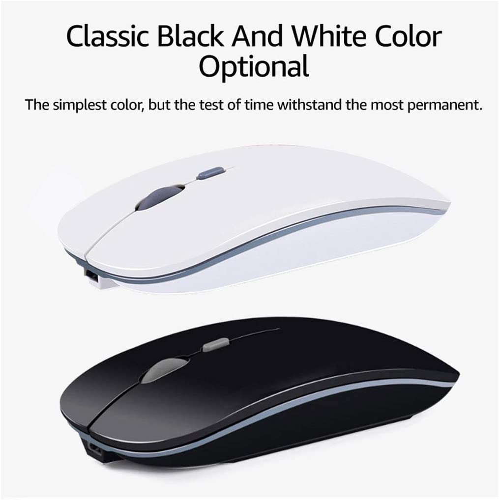 Wireless Mouse Computer Mouse Silent PC Rechargeable Micro Ergonomic Wireless Mice 2.4Ghz USB Optical Mice for Laptop PC Color : Pink