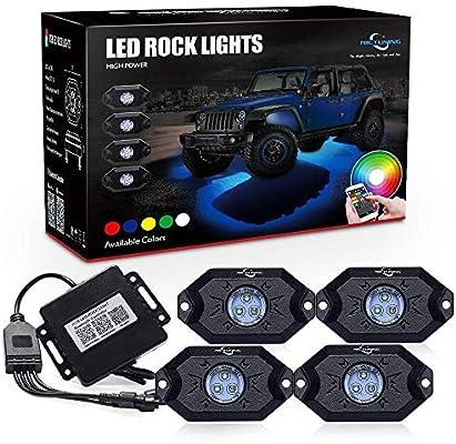 RGB LED Rock Lights 6 Pod Lights SWATOW 4x4 Multicolor Neon LED Lights w//Bluetooth Control Underglow Trail Rig Lights Wheel Rock Lights for Truck Jeep Car ATV UTV RZR