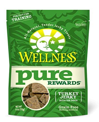 Wellness Pure Rewards Natural Grain Free Dog Treats, Turkey Jerky, 6-Ounce Bag