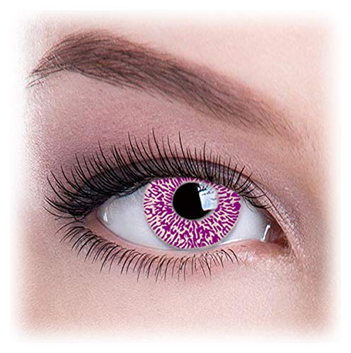 Women Multicolor Cute Charm and Attractive Eye Accessories Cosmetic Makeup Eye Shadow - Violet Glimmer with Contact Lens Case By Dress You Up TM]()
