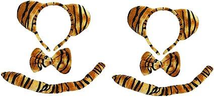 Amosfun Disfraz de Tigre para niños, Disfraz de Animal, Diadema ...