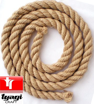 16mm Jute Rope Hemp Twine Sisal Sash 2 Meter Length Tyagi Craft