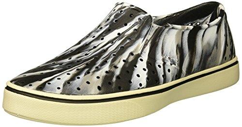 native Men's Miles Water Shoe, Jiffy Black/Bone White/Marble, 5 Men's (7 B US Women's) M US by native