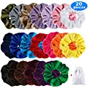 20-Piece Acecharming Velvet Scrunchies Set