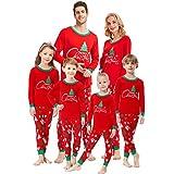 Matching Family Pajamas Christmas Tree Boys and Girls Pyjamas 2 Piece PJs for Women L