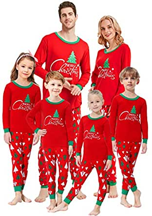 Matching Family Pajamas Christmas Tree Boys and Girls Pyjamas 2 Piece PJs for Men XL