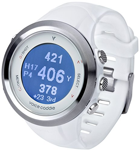 Voice Caddie T2 Hybrid Golf GPS Rangefinder Watch, White