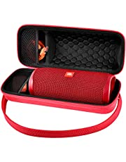Case Compatible with JBL FLIP 5 Waterproof Portable Bluetooth Speaker. Hard Travel Storage Holder for JBL FLIP 4 and USB Cable&Adapter - Red(Case Only)