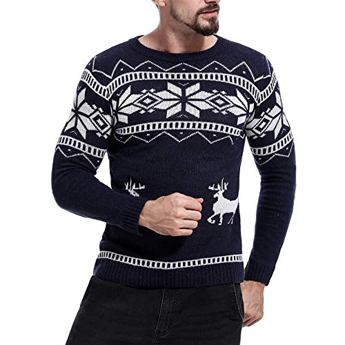 iLXHD Men Christmas Autumn Winter Pullover Knitted Top