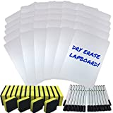 quest marker - Dry Erase Lapboard Classroom Kit, Set of 30 Whiteboards, Black Dry Erase Markers and 2'' x 2'' Erasers