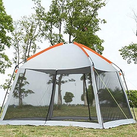 KAR Tienda, Doble Capa 5-8Person Familia Tienda De Campaña Playa Gardon Partido Glorieta Sol Refugio Pérgola Mosquitera,A: Amazon.es: Deportes y aire libre