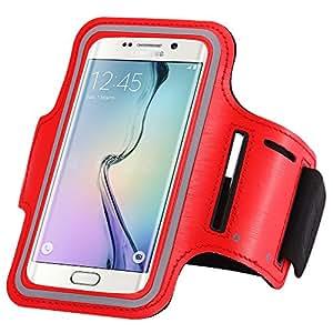 Theoutlettablet® Brazalete Neopreno deportivo para running - correr - para transporte Smartphone Woxter Zielo Z-450 Woxter Color ROJO