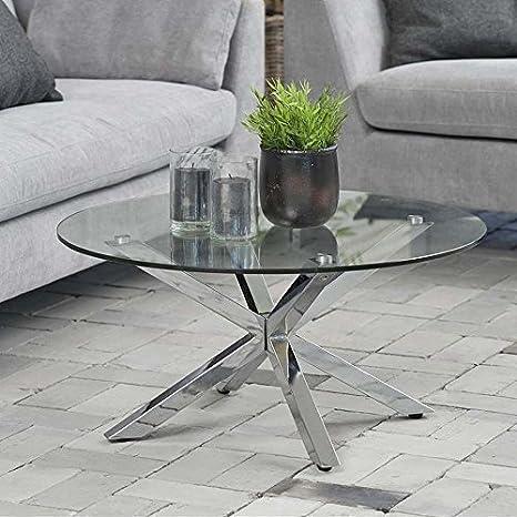 lounge-zone Design Tavolino da salotto tavolo di vetro stella, vetro ...