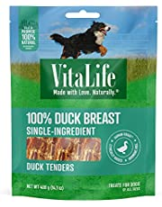 VitaLife 400 g Duck Tenders, All Natural Dog Treats