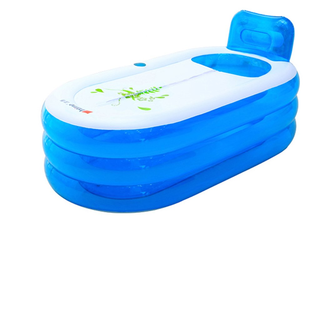 Environmental PVC Blue/Pink adult bathtub inflatable bathtub for indoor/outdoor use (Size : Package 1)