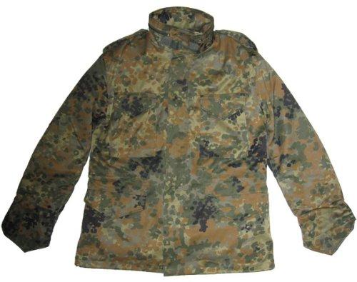 Camooutdoor Men's Mil-Tec Flecktarn Camouflage M65 Field Jacket Medium Green