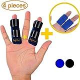 BodyMoves Finger Splints Plus Nylon Sleeves for Trigger Finger Mallet Finger Broken Finger Rheumatoid Arthritis Post Operative Care (Aqua Blue)