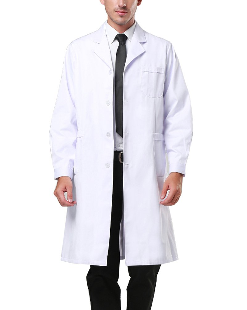 Nachvorn Professional Unisex Lab Coat Workwear Scrubs Uniform, Men XXXXL by Nachvorn (Image #2)