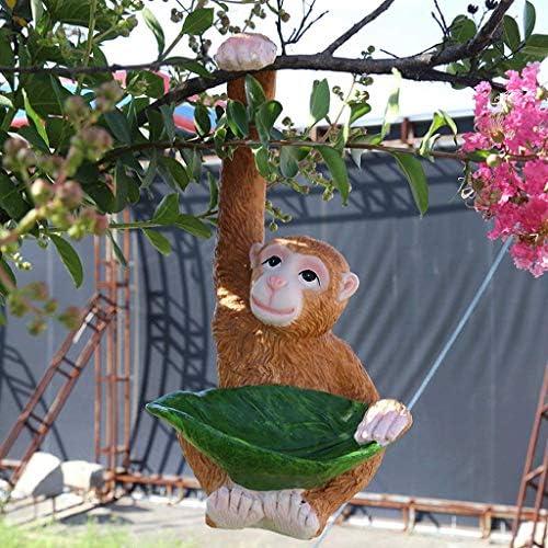 屋内噴水風水装飾庭の庭庭屋外庭小さな庭フラワースタンド小さな樹脂創造的な猿の庭と庭動物像