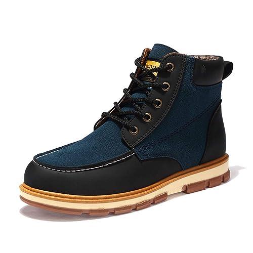NXY de los Hombres Moda Chukka Boots Invierno cálido Bajo talón Botines Forrado de Piel Encajes Zapatos Casuales Martin Boots: Amazon.es: Zapatos y ...