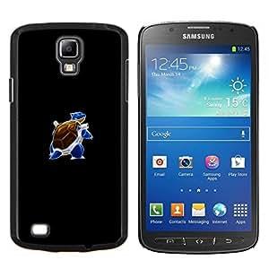 Qstar Arte & diseño plástico duro Fundas Cover Cubre Hard Case Cover para Samsung Galaxy S4 Active i9295 (Meter Blue Monster Tortuga)