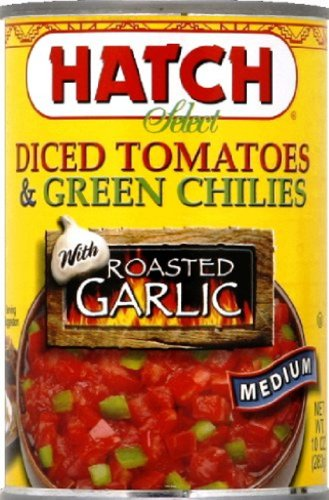 Hatch-Chile-Company-Hatch-Diced-Tomatoes-and-Green-Chilies-with-Roasted-Garlic-10-Ounce-Pack-of-12