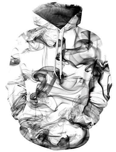 die Pullover Print Pattern Fashion Sweatshirt Unisex Hoody 2XL/3XL Smoke Style ()