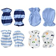 Gerber Baby-Boys Mittens, Transportation, 0-3 Months (Pack of 4)