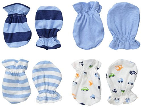Gerber Baby-Boys Mittens, Transportation, 0-3 Months (Pack of 4) (Baby And Infant)