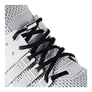 anan520 Elastic No Tie Shoe Laces For Adults,Kids,Elderly,System With Elastic Shoe Laces(2 Pairs), Black, X-Large
