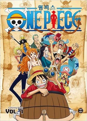 Japanese Anime One Piece Coloring Book Korean Edition Jk