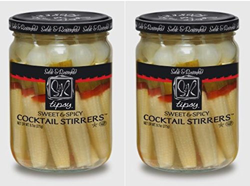 (Sable & Rosenfeld NEW All Natural, GMO-Certified Tipsy Cocktail Stirrers, Sweet and Spicy, 16 oz (Pack of 2))