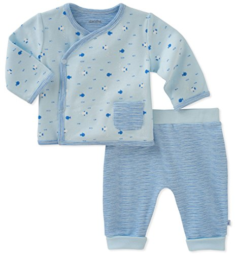 absorba Baby Cardigan Pant Set Boys, Blue, 0-3 Months