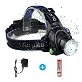 LED Rechargeable Headlamp Headlight, Super Bright 4 Modes 1000 Lumens BOSICAN Adjustable Zoomable Head Lamp Flashlight Waterproof Hands-free Torch Lamp for Hunting Running Camping Riding Outdoor Sport