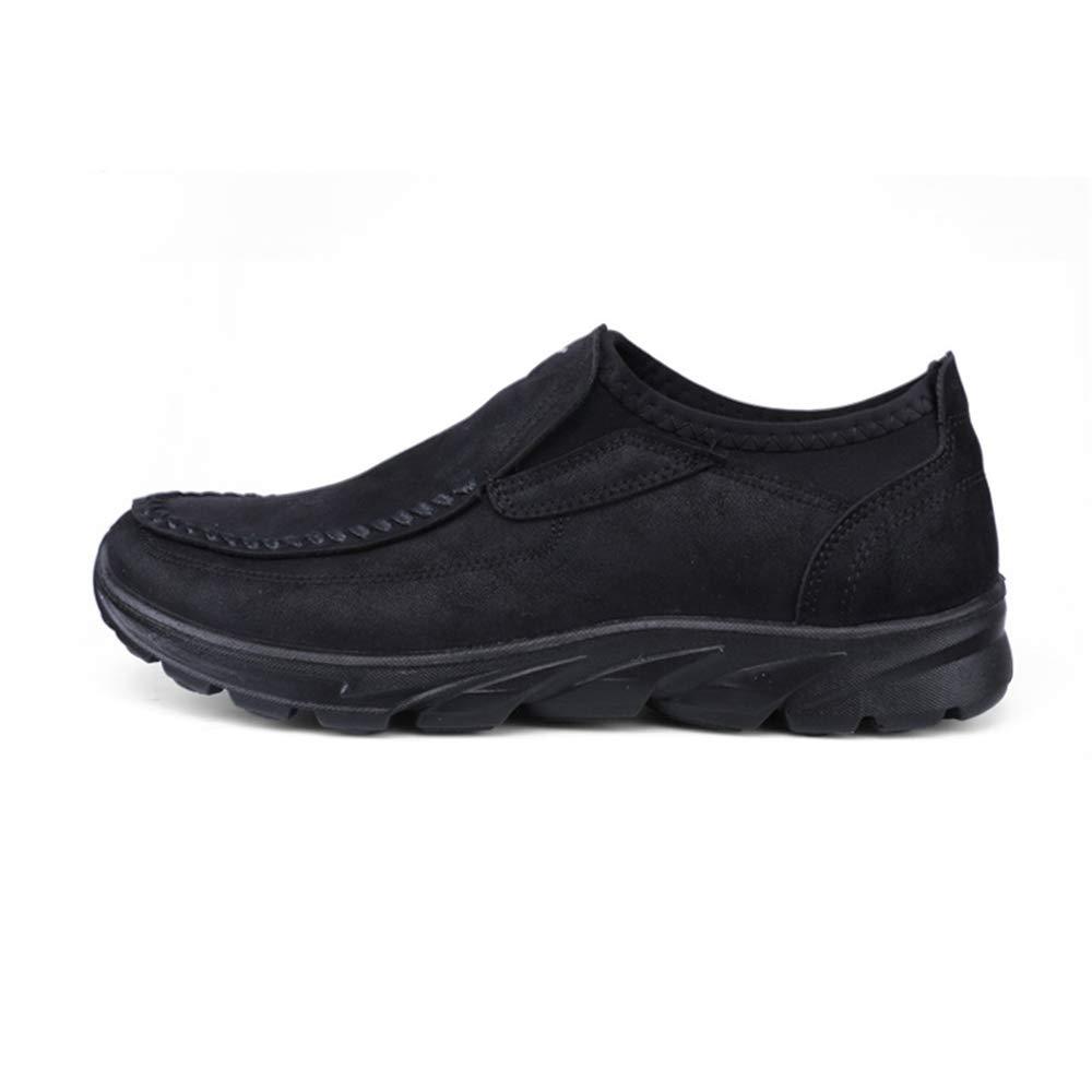 Fuxitoggo   Herren Casual Slip weiche auf Loafers Licht Rutschfeste weiche Slip Sohle Durable Driving Schuhes (Farbe : Grün, Größe : EU 42) Schwarz e680bf