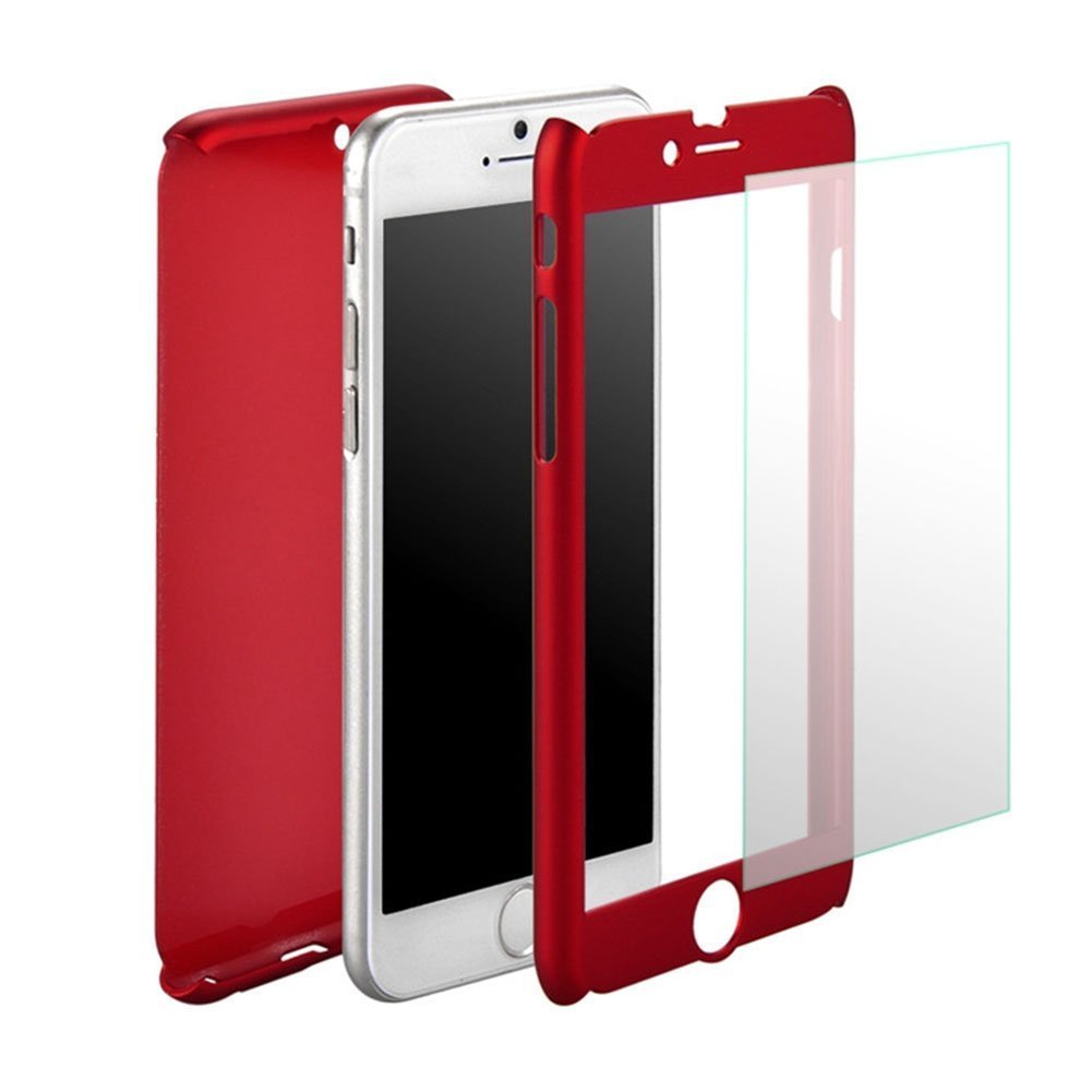 Iphone 6 Plus 6s Full Body Hard Case Aurora Red Xiaomi Redmi S2 Hardcase 360 Protective Front And Back Cover With Tempered Glass Screen Protector For 55