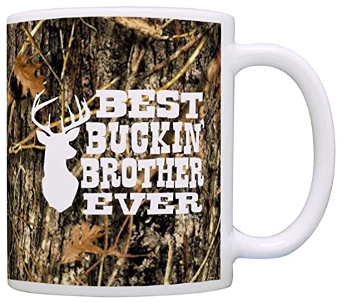 Gift for Brother Best Buckin' Brother Ever Deer Hunting Gifts Country Gift Coffee Mug Tea Cup Camo