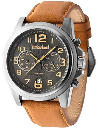 Timberland Reloj Analógico para Hombre de Cuarzo con Correa en Cuero TBL.14518JSU-61B: Amazon.es: Relojes