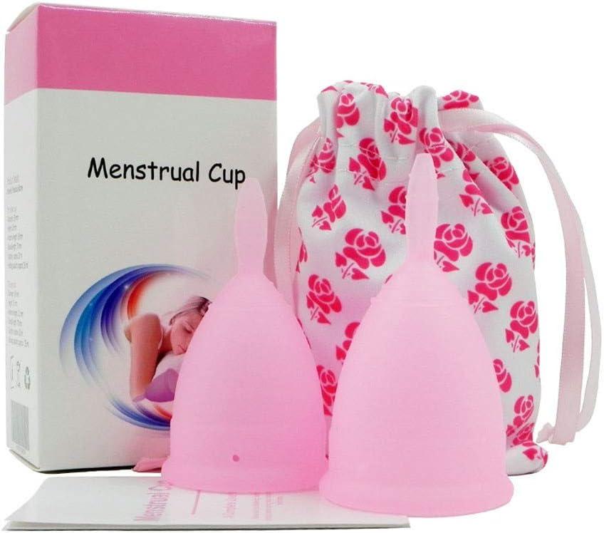 WEZZZ Copa Menstrual Reutilizable Silicona Médica para ...